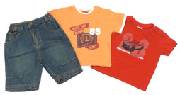 Impidimpi T-Shirt & little star Jeansbermuda, T-Shirt Baby-Set